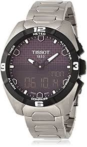 mens tissot t touch solar titanium alarm chronograph solar powered mens tissot t touch solar titanium alarm chronograph solar powered watch t0914204405100