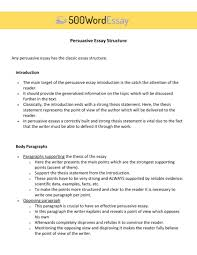 Persuasive Essay Examples Tips For Writing A Good Apa Format Stru