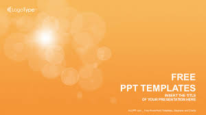 Orange Bubbles Abstract Ppt Templates