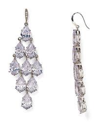 ee women s metallic pavé kite chandelier earrings