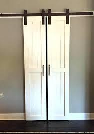 narrow closet doors a solution for wall es use double barn door tall 8 foot terrific sliding barn door