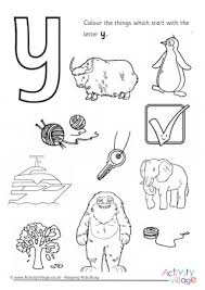 Small Picture Letter Y Colouring Pages