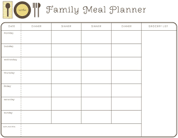 monthly meal planner template weekly month planner template for food google search healthy