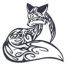 tribal fox drawing. Contemporary Fox Animal Tattoos  Fox Fox Tribal Drawings  In Drawing