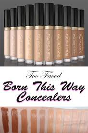 Too Faced Concealer Light Too Faced Born This Way Concealer Swatches Foundation Swatches