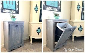 door mount trash can kitchen cabinet with trash bin kitchen cabinet trash can strikingly ideas wood