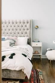 white modern master bedroom. Bold, Glam And Modern Master Bedroom With White Bedding Bronze/gold Unique Touches