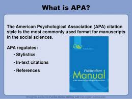 What Is Apa Style Apa Style Ppt