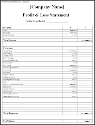Sample Of Profit And Loss Statement For Self Employed Sample Profit And Loss Statement Template