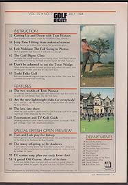 Golf Digest Jack Nicklaus Tom Watson Jerry Pate 7 1984 At