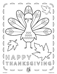 Small Picture Kids Thanksgiving Themed Free Printable Coloring Page Honest to Nod