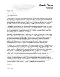Internship Application Letter Church Internship Cover Letter By Nicole Terry Issuu