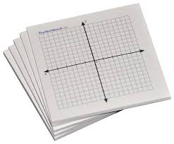 com sticky note mini graph pads 5 count graph paper sticky notes 20 x 20 four quadrant office s
