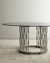 view in gallery unique round dining table from horchow