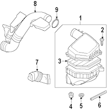 Air cleaner assy seal strip