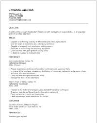 Lab Skills Resume Science Resume Lab Skills Laboratory Technician