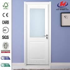 incredible solid wood interior door china solid wood half view panel glass interior door manufacturers
