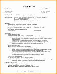Teacher Resume Objective Sample Teacher Resume Sample Template For Teaching Position Example