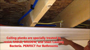 Plywood Plank Ceiling Armstrong Woodhaven Ceiling Install Diy Youtube