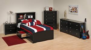 Black Sonoma Twin Bedroom Set - [BSTB5PC]