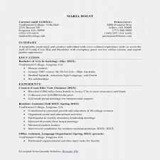 College Graduate Resume Examples New Resume Examples For Non College
