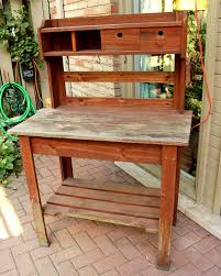 Potting Bench Another Bright Idea Refinished Potting Bench Tutorial
