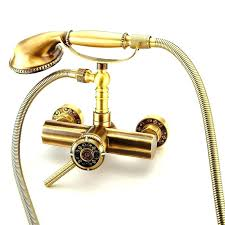 bathtub faucet with handheld shower wall mount hand deck mounted bathtub faucet with handheld shower