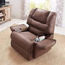 recliner chairs with cup holder. Plain Cup New Brown Rocker Recliner Cup Holder Lazy Chair Seat Barcalounger Boy  Furniture Throughout Chairs With C