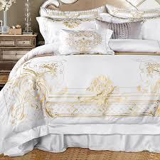 4 6 7pcs luxury egypt cotton royal wedding bedding set silky smooth duvet cover