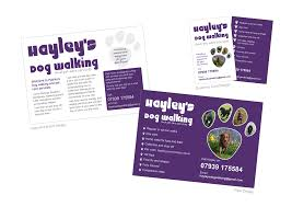 blackbird design the whole design package hayleys dog walking flyers business cards and facebook banner