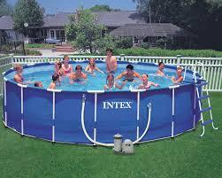 intex 18 x 48 metal frame pool set with 1 500 gph filter pump optional pump upgrade 54951 jpg