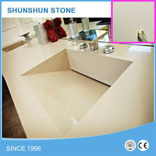 ivory iced snow white quartz stone countertop with drain sink pictures photos