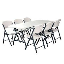 folding chairs and tables.  Folding Lifetime Combo  6u0027 Commercial Grade Folding Table And 6 Chairs In Chairs And Tables Samu0027s Club