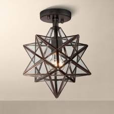 lighting fascinating starlight copper chandelier moravian star light ceiling pendant fixture shaped outdoor energy fixtures