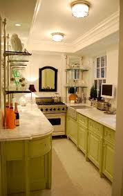 best galley kitchen design. Fine Design Smashing Gallery Ceiling Open Shelves Color Marble And Mirror For Best Galley Kitchen Design G