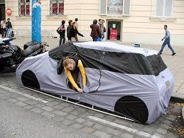 For those who believe that streets are for people as well as cars, here is  the ultimate hybrid: a tent that looks like a car. Artist Michael Rakowitz  says: ...