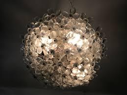 vintage crystal murano glass flower chandelier