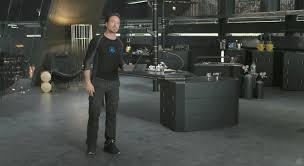 tony stark office. Robert Downey Jr. Stars As Tony Stark/Iron Man In Walt Disney Pictures\u0027 Stark Office A