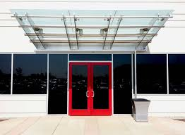 stylish business glass front door and commercial glass entry door