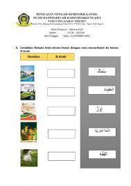 Soal, dan, jawaban, bahasa, indonesia, kelas, 5, sd, semester, 2 created date: Pts Bahasa Arab Kelas 3 Worksheet