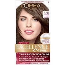 L Oreal Excellence Age Perfect Hair Color Chart Loreal Paris Excellence Creme Permanent Hair Color 5ab Mocha Ashe Brown 1 Count Kit 100 Gray Coverage Hair Dye