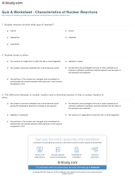 print nuclear reaction definition examples worksheet