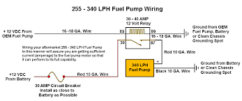 255 lph or larger fuel pump wiring diagram stinger performance here is a good diagram showing how to wire a large fuel pump so it gets proper voltage and doesn t overwork the stock wiring