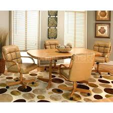 table and chairs with wheels dining chairs with wheels dining room table chairs casters chair side