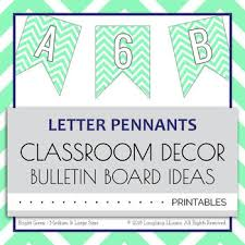 Printable Chevron Letters Letter Number Pennants Flags Word Wall Chevron Green