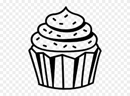 cupcake drawing black and white. Plain White Cupcake Drawing Black And White At Getdrawings  Transparent  To D