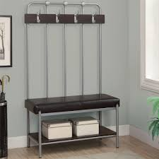 Foyer Benches With Coat Racks Entryway Coat Rack And Storage Bench Cdbossington Interior Design 43