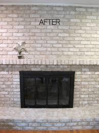 Gray Brick Fireplace Properly Paint A Brick Fireplace Bricks And Gray