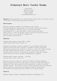 Music Teacher Resume Cover Letter Resume Objective Music Teacher Therpgmovie 10