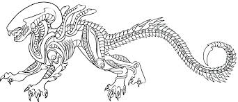 Xenomorph Coloring Pages Page Aliens In Design Free Kids Alien